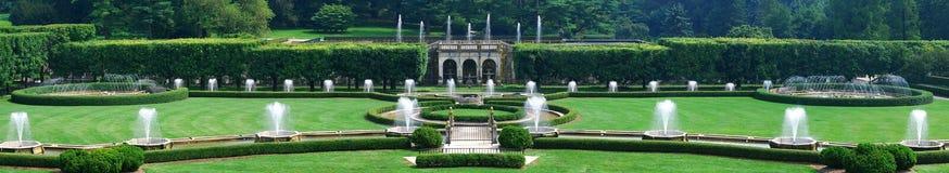 Panorama della fontana immagine stock