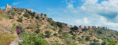 Panorama della fortificazione di Kumbhalgarh Il Ragiastan, India Fotografia Stock Libera da Diritti