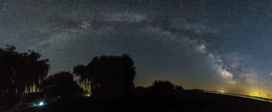 Panorama della galassia fotografie stock libere da diritti