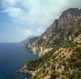 Panorama della linea costiera di Amalfi Fotografia Stock Libera da Diritti