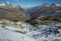 Panorama della località di soggiorno di Zermatt, alpi, cantone del Valais, Svizzera Fotografia Stock