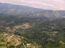Panorama della montagna Fotografia Stock
