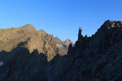Panorama della montagna ad alba, alpi di Hohe Tauern, Austria Immagine Stock Libera da Diritti