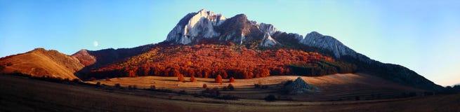 Panorama della montagna in autunno Fotografie Stock Libere da Diritti