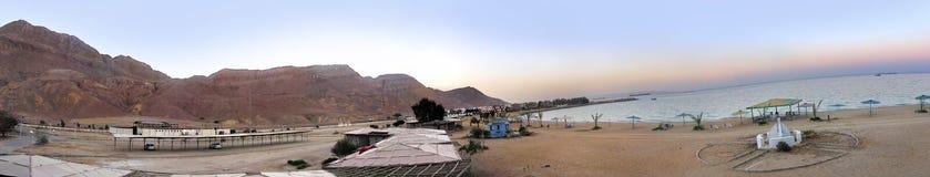 Panorama della montagna della spiaggia fotografia stock