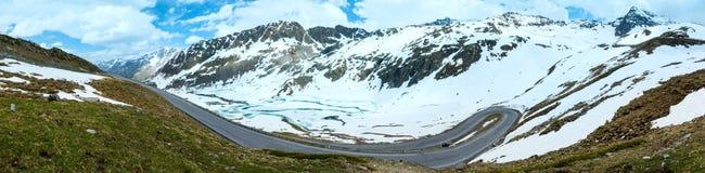 Panorama della montagna delle alpi di estate (Austria) Fotografie Stock Libere da Diritti