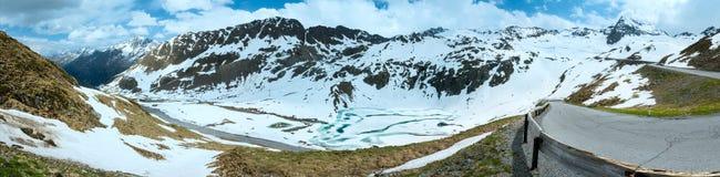 Panorama della montagna delle alpi di estate (Austria) Immagine Stock Libera da Diritti
