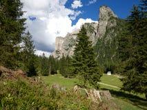 Panorama della montagna delle dolomia Fotografie Stock