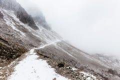 Panorama della montagna delle dolomia, Tre Cime Di Lavaredo Fotografie Stock Libere da Diritti
