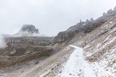 Panorama della montagna delle dolomia, Tre Cime Di Lavaredo Fotografia Stock Libera da Diritti