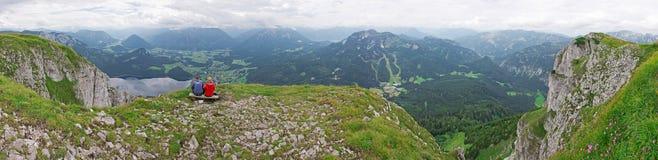Panorama della montagna di Aussee in Austria Immagine Stock Libera da Diritti