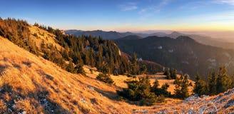 Panorama della montagna di autunno - Tlsta Immagini Stock