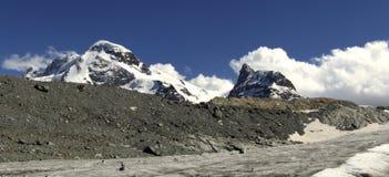 Panorama della montagna di Breithorn fotografia stock libera da diritti