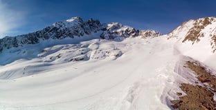 Panorama della montagna di inverno Immagini Stock