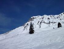 Panorama della montagna di inverno del arlberg della st anton  Fotografia Stock Libera da Diritti