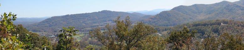 Panorama della montagna di Smokey Fotografie Stock