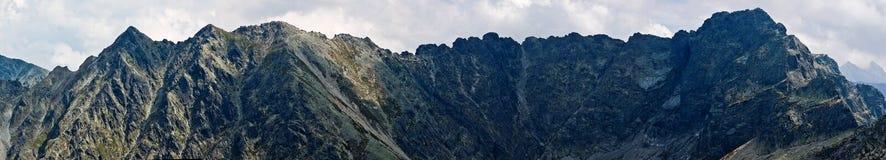 Panorama della montagna di Tatra Fotografia Stock