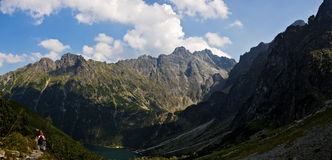 Panorama della montagna di Tatra Immagini Stock Libere da Diritti