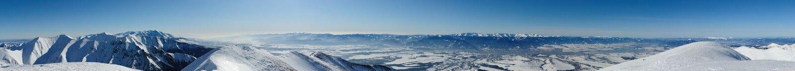 Panorama della montagna di Tatra Immagini Stock