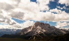 Panorama della montagna - Dolomiti, Italia Fotografia Stock