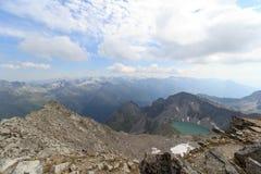 Panorama della montagna e lago Wildensee, alpi di Hohe Tauern, Austria Fotografia Stock Libera da Diritti