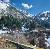 Panorama della natura: in Chimbulak Almaty, il Kazakistan Immagine Stock Libera da Diritti