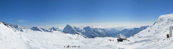 Panorama della neve dal passaggio di Salati Fotografia Stock