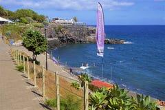Panorama della passeggiata di Funchal, Madera fotografia stock