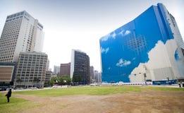 Panorama della plaza di Seoul fotografie stock