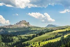 Panorama della regione di Adige del negativo per la stampa di cartamoneta in Italia del Nord su estate Fotografie Stock