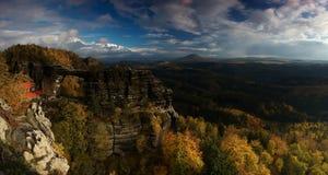 Panorama della roccia di Pravcicka Immagini Stock