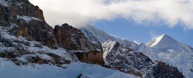Panorama della sommità del jungfrau - cima di Europa Immagine Stock