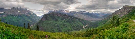 Panorama della sosta nazionale del ghiacciaio Immagine Stock