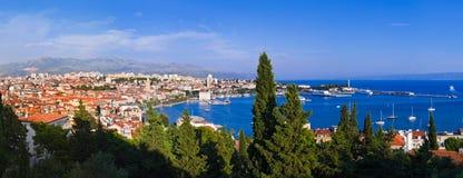 Panorama della spaccatura, Croatia fotografia stock