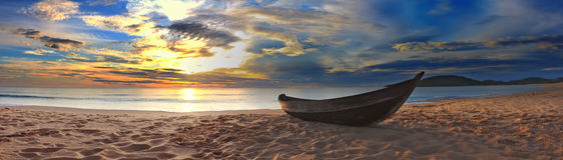 Panorama della spiaggia Immagini Stock Libere da Diritti