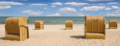 Panorama della spiaggia immagine stock