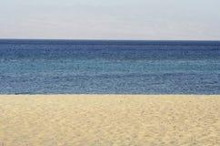 Panorama della spiaggia Fotografie Stock Libere da Diritti