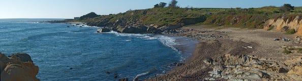 Panorama della spiaggia, California Fotografie Stock