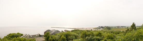 Panorama della spiaggia del Connecticut immagini stock