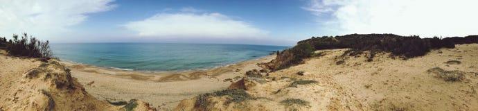 Panorama della spiaggia del deserto immagine stock