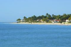 Panorama della spiaggia del Playa del Carmen, Messico Immagini Stock