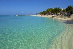 Panorama della spiaggia della Cove del dottore in Giamaica immagini stock