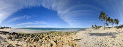 Panorama della spiaggia della Santa Maria, Cuba Fotografia Stock Libera da Diritti
