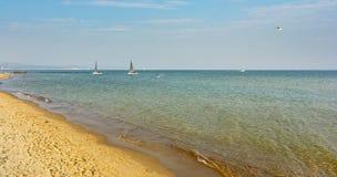 Panorama della spiaggia di autunno Fotografia Stock