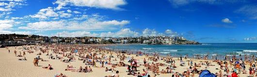 Panorama della spiaggia di Bondi Fotografia Stock Libera da Diritti