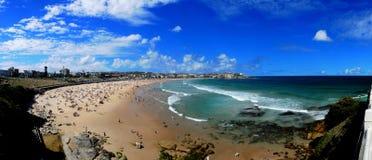 Panorama della spiaggia di Bondi Fotografia Stock