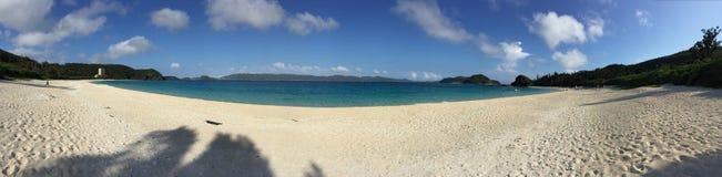 Panorama della spiaggia di Furuzamami Fotografie Stock