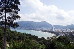 Panorama della spiaggia di Patong Fotografia Stock Libera da Diritti