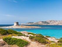 Panorama della spiaggia di Pelosa della La Fotografia Stock Libera da Diritti