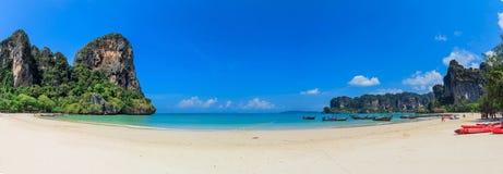 Panorama della spiaggia di Railay Fotografia Stock
